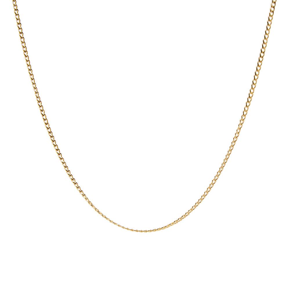 Maple Curb Chain 50cm - Gold