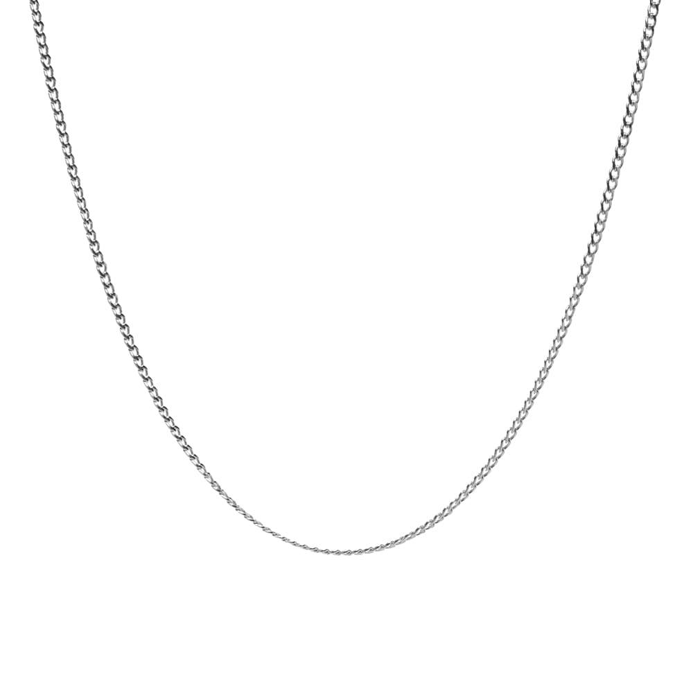 Maple Curb Chain 50cm - Silver