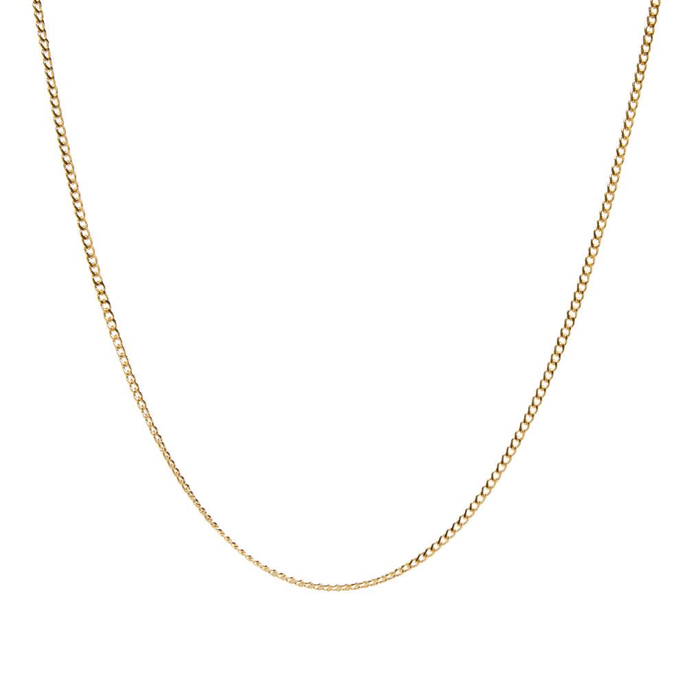 Maple Curb Chain 60cm - Gold