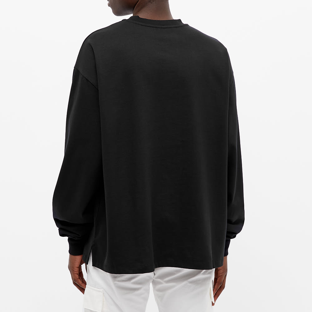 PACCBET Long Sleeve Metallic Box Logo Tee - Black