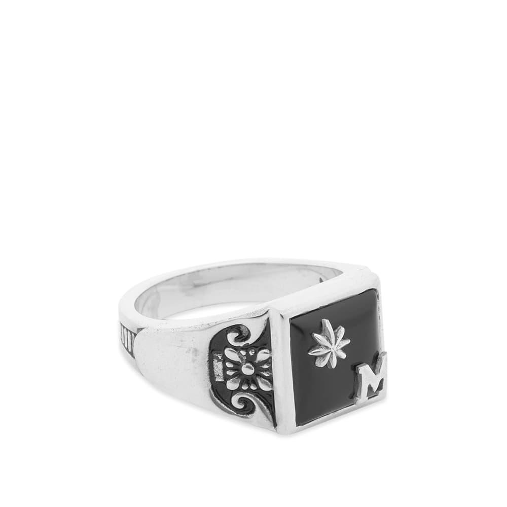 Maple Collegiate Ring - Silver & Onyx