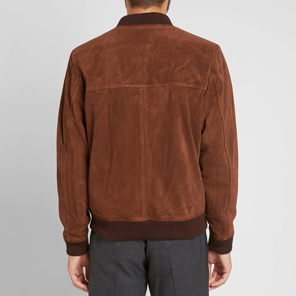 A.P.C. Suede Bomber Jacket - Brown