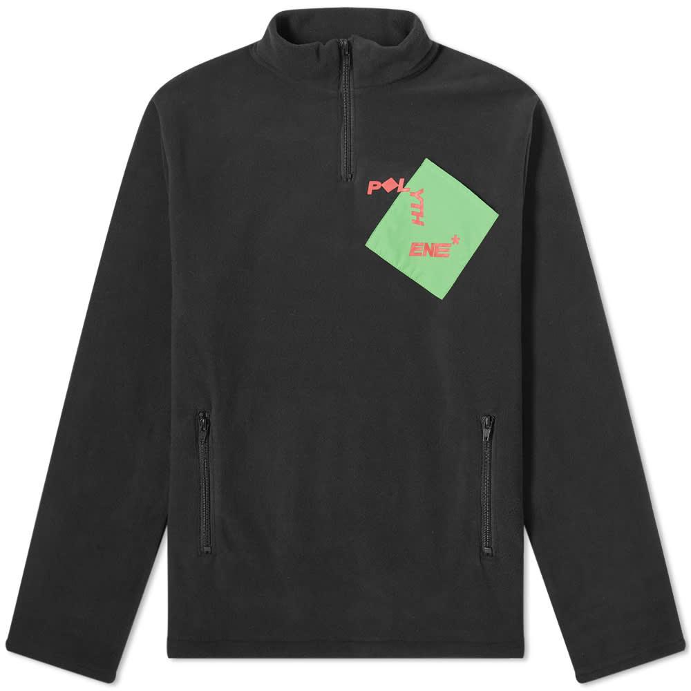 Polythene Optics Logo Quarter Zip Fleece - Black