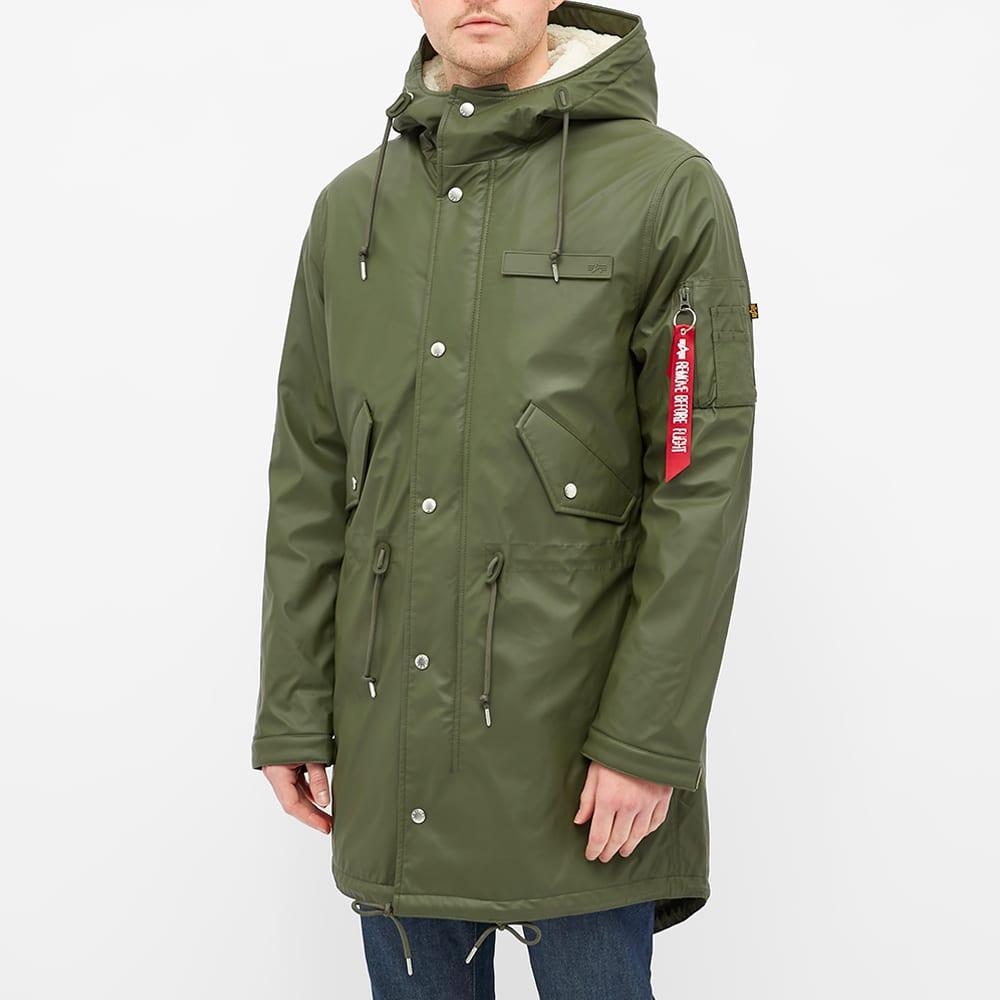 Alpha Industries Fishtail Raincoat - Dark Olive