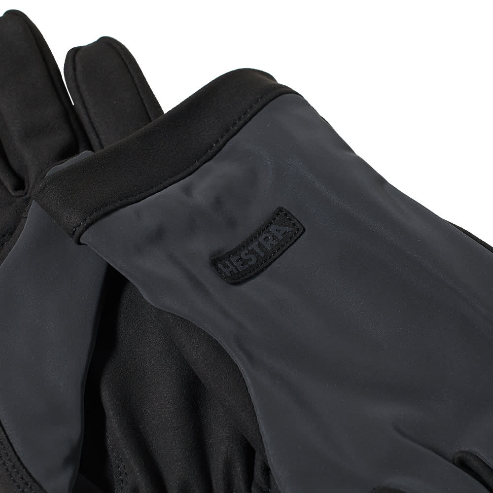 Hestra Mason Glove - Black & Grey Reflective