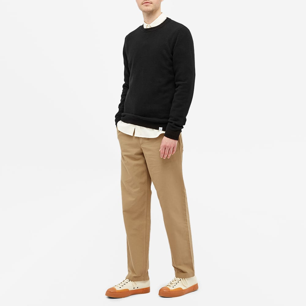 Norse Projects Sigfred Lambswool Crew Knit - Black