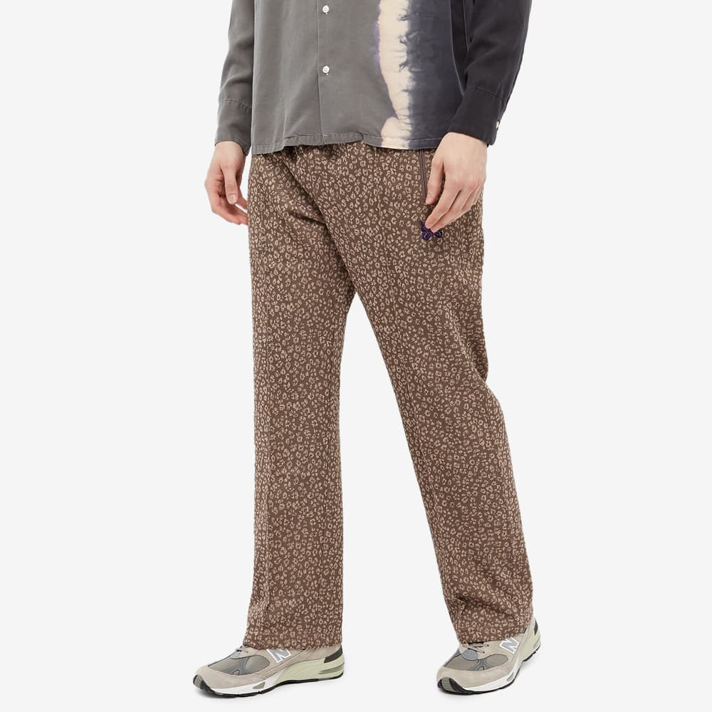 Needles Poly Patterned Track Pant - Leopard