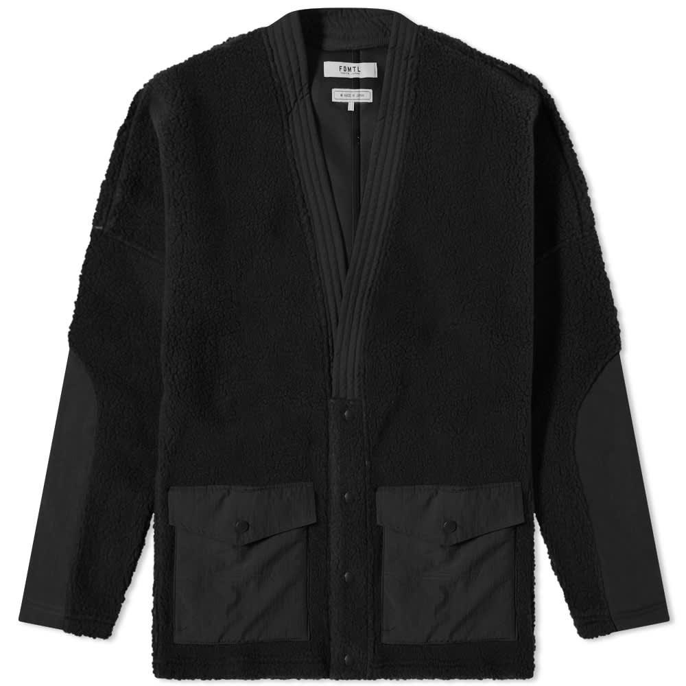FDMTL Fleece Cardigan - Black