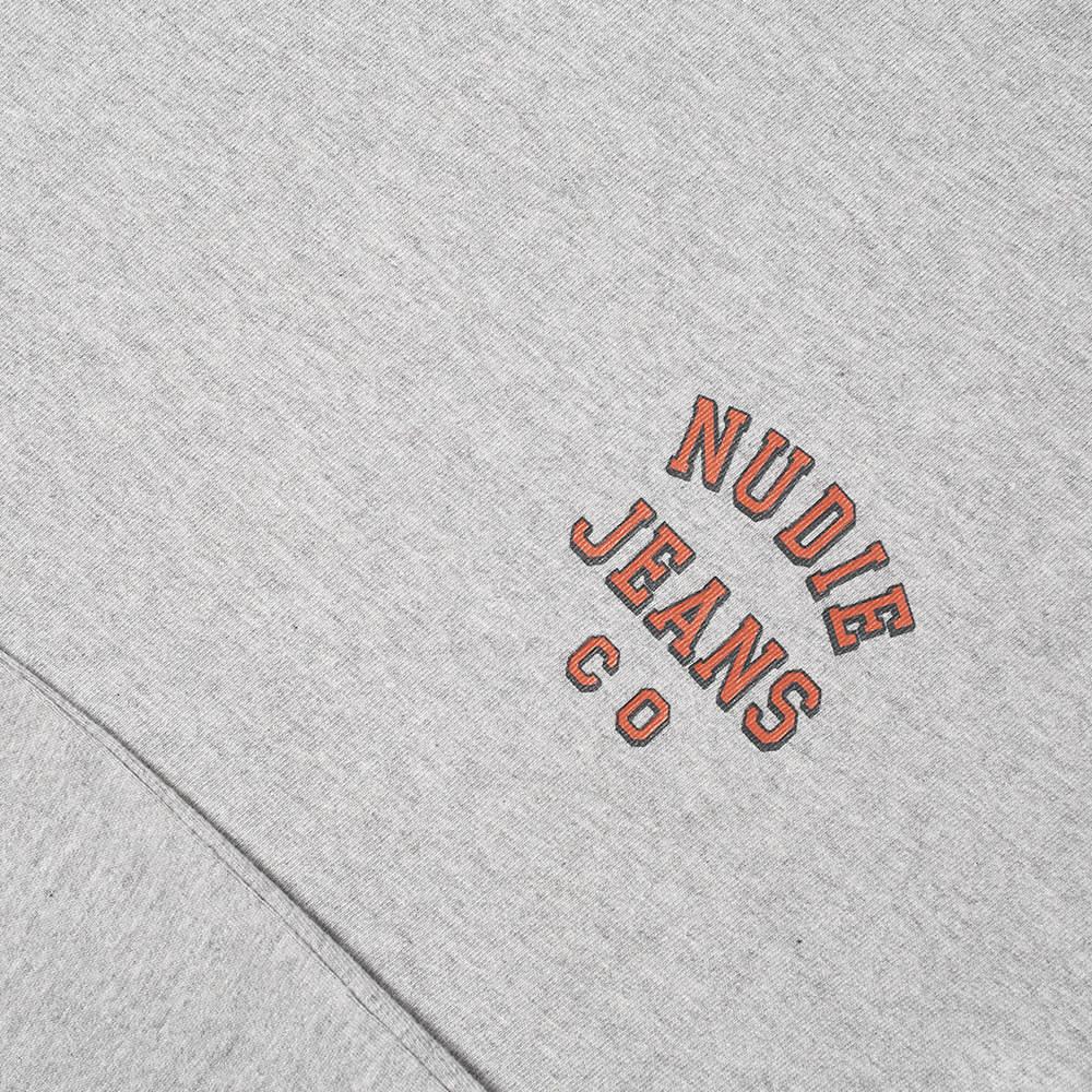 Nudie Roy Logo Tee - Grey Melange