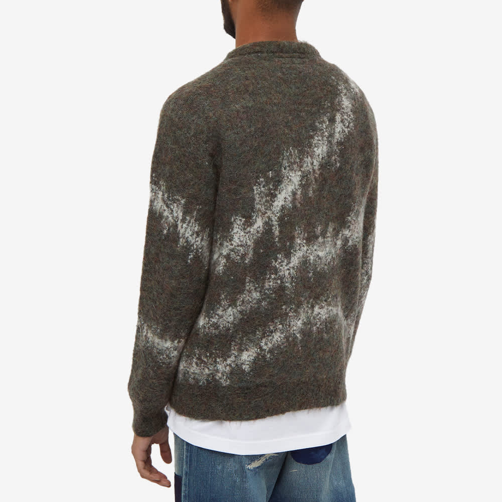 FDMTL Patchwork Wool Sweat - Khaki