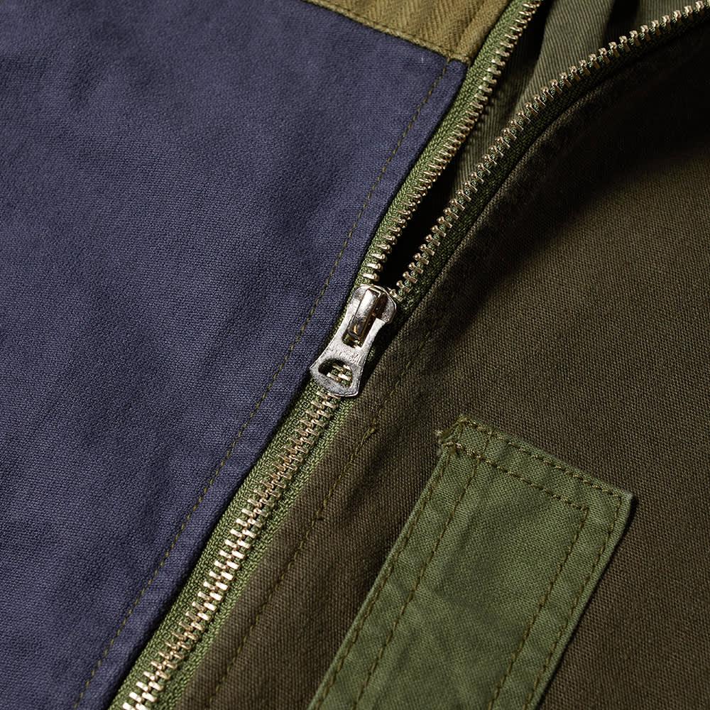 FDMTL Patchwork Bomber Jacket - Rinse Khaki