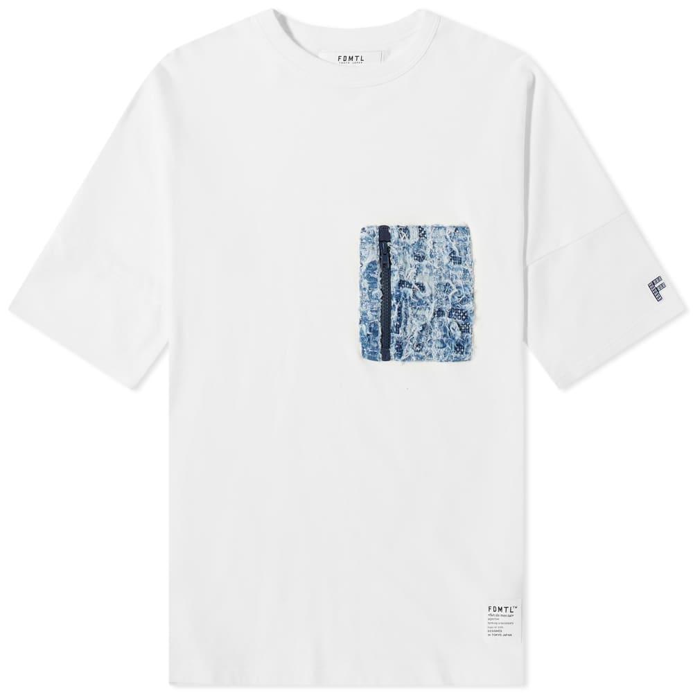 FDMTL Wide Pocket Tee - White