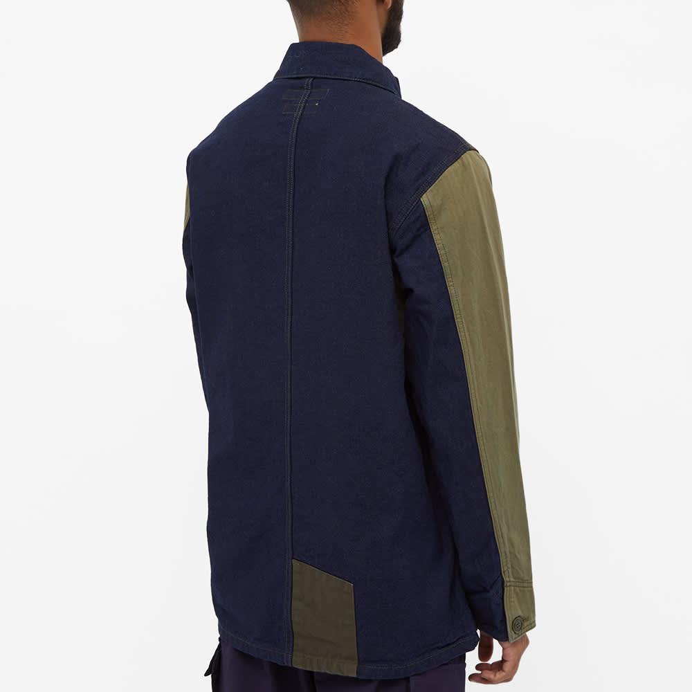 FDMTL Patchwork Coverall Jacket - Rinse Khaki