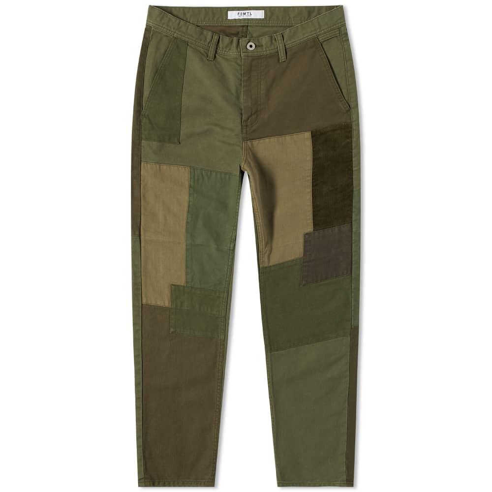 FDMTL Boro Patchwork Pant - Rinse Khaki