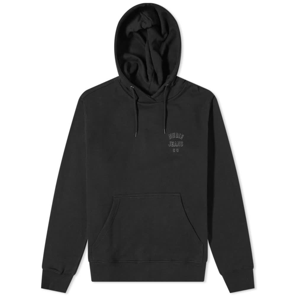 Nudie Franke Logo Hoody - Black
