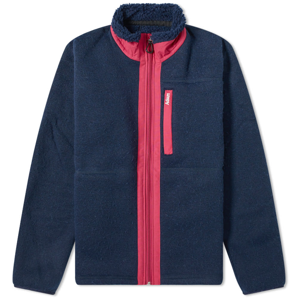 Adsum Expedition Fleece Jacket - Navy & Magenta