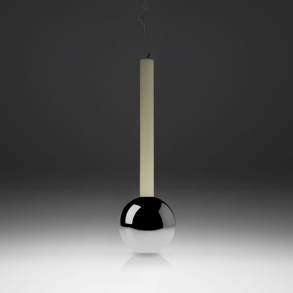 Minimalux Aluminium Spherical Candle Holder - Aluminium
