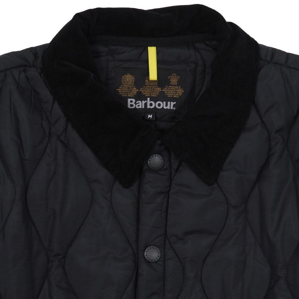 Barbour Liddesdale Track Quilt - Black