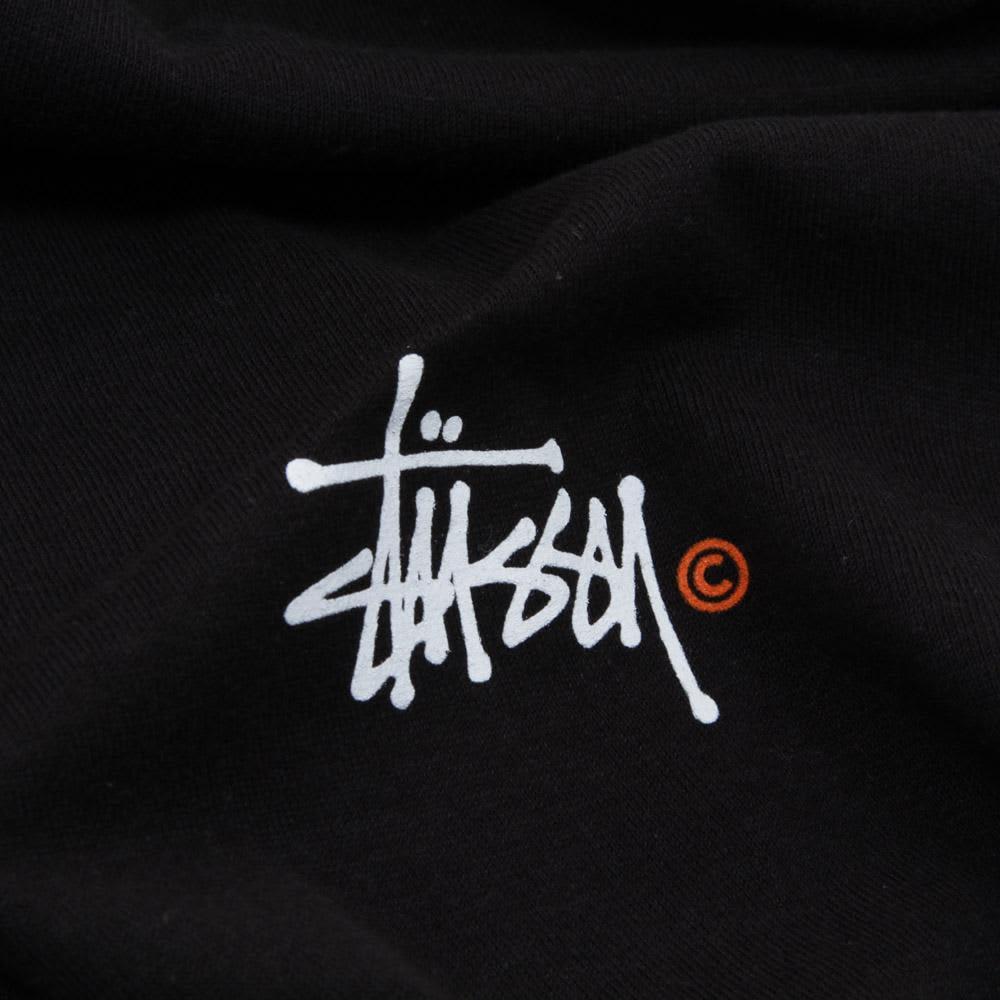 Stussy Basic Logo Tee - Black, White & Orange