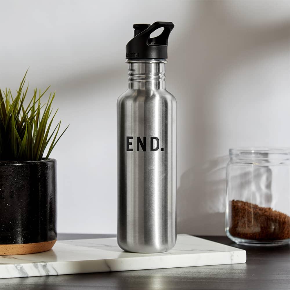 END. x Klean Kanteen Single-Walled Sport 3.0 Bottle - Brushed Stainless Steel 800ml