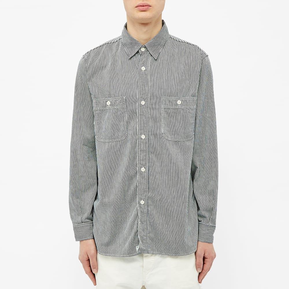 orSlow Work Shirt - Hickory Stripe