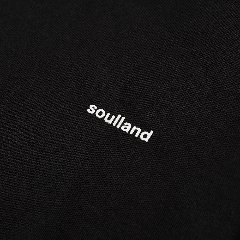 Soulland Wallance Logo Hoody - Black