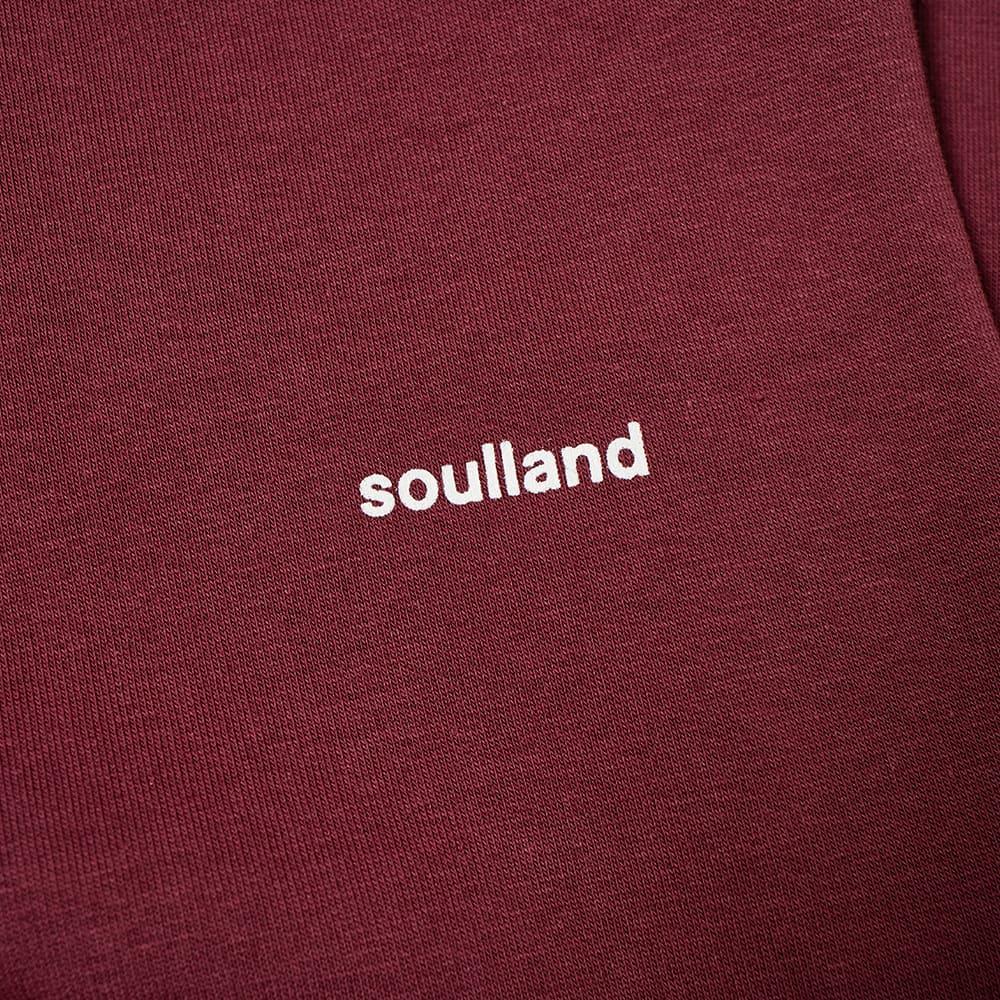 Soulland Wallance Logo Hoody - Burgundy