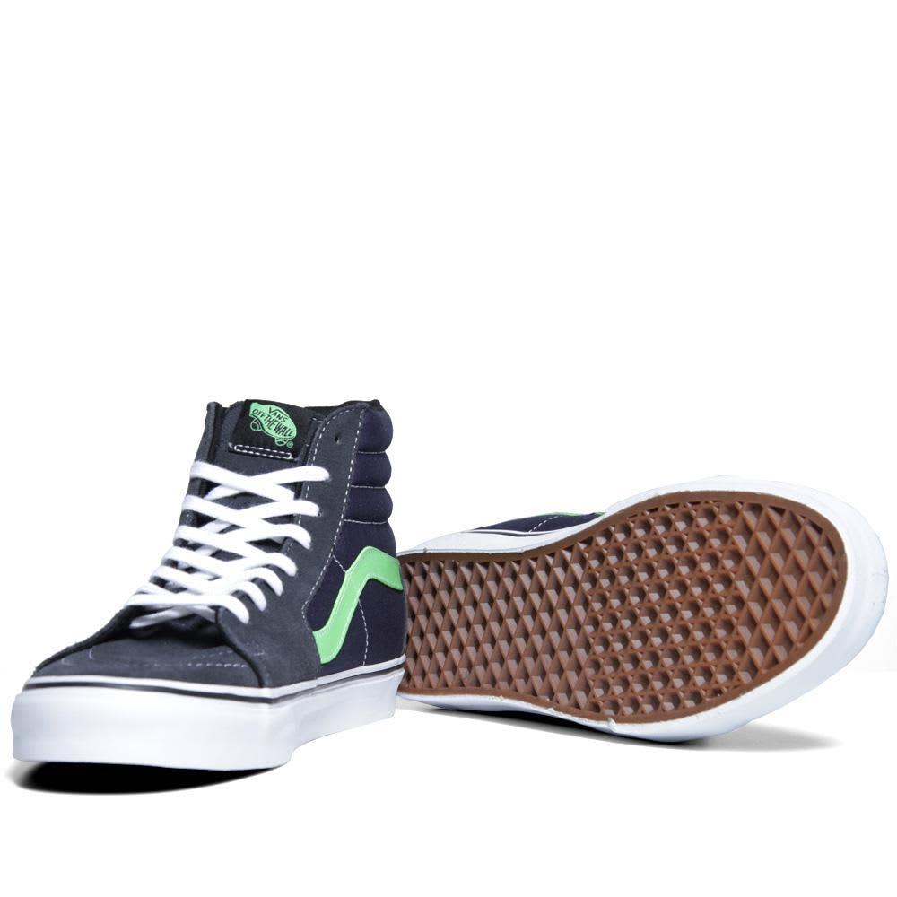 Vans California Sk8-Hi - Dark Shadow & Green Flash