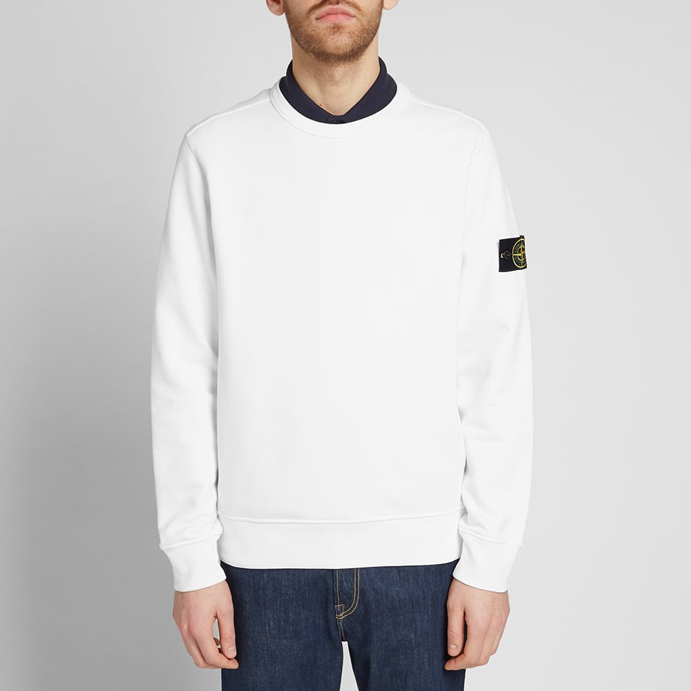 Stone Island Garment Dyed Crew Sweat - White