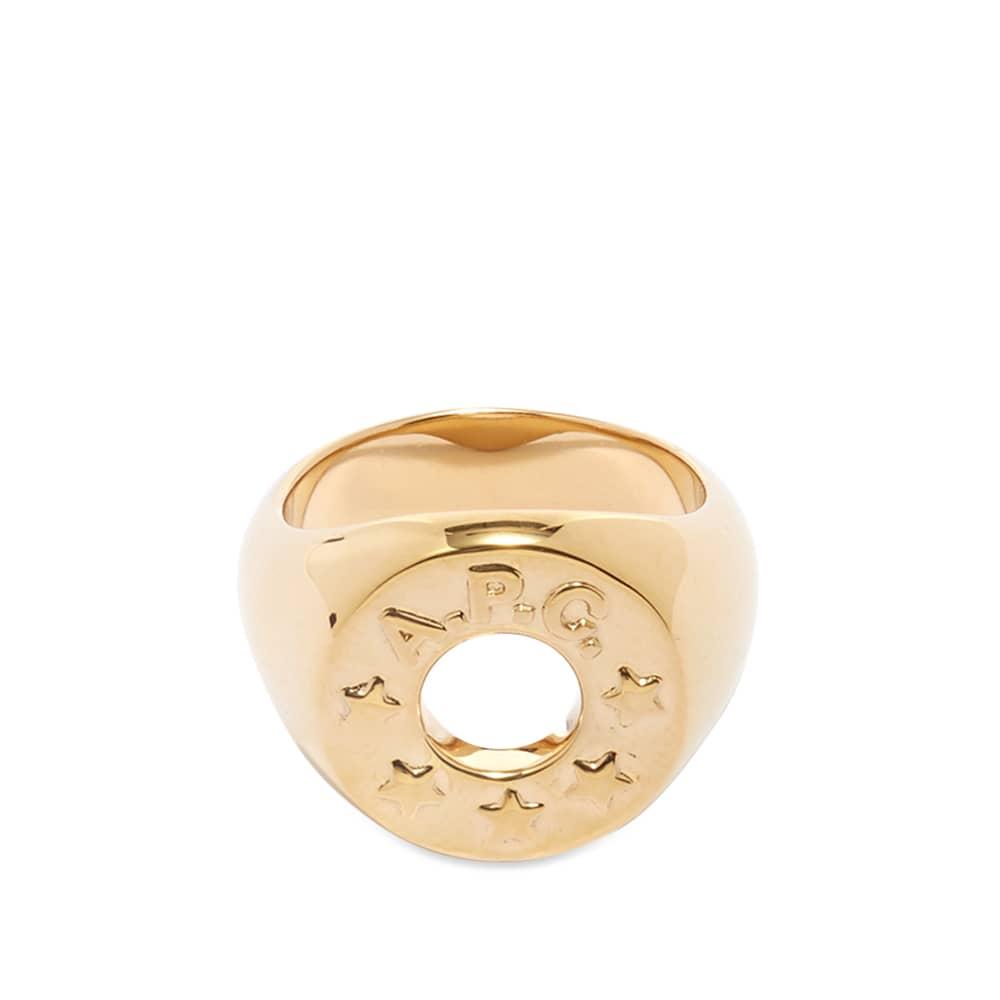 A.P.C. Ambre Signet Ring - Gold