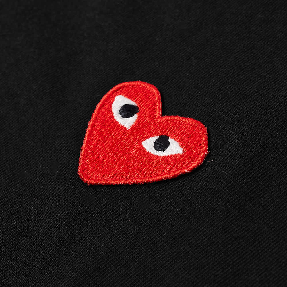 Comme des Garcons Play Basic Logo Tee - Black & Red
