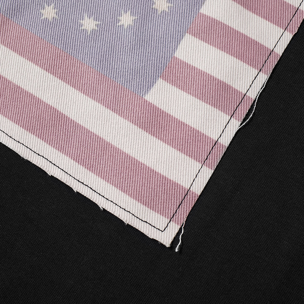 424 Long Sleeve Smiley Flag Tee - Black