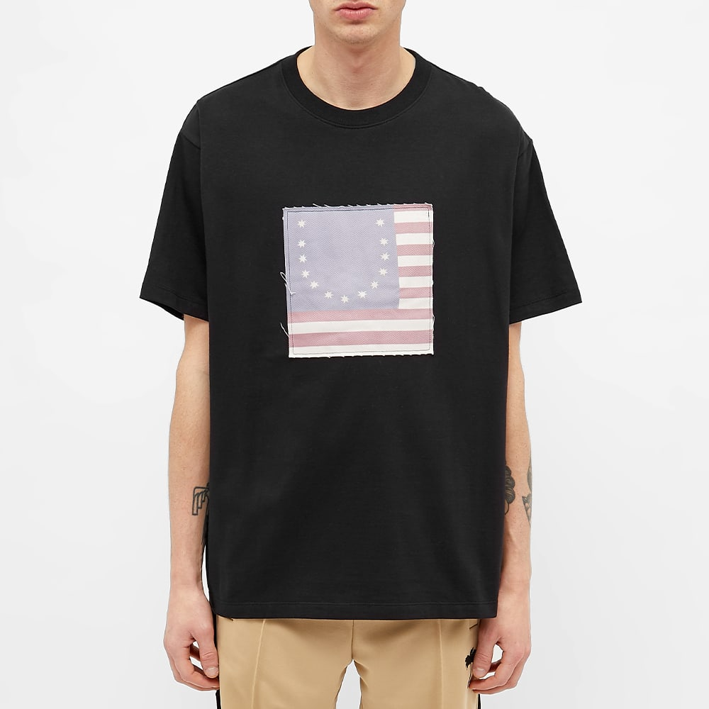 424 Smiley Flag Tee - Black