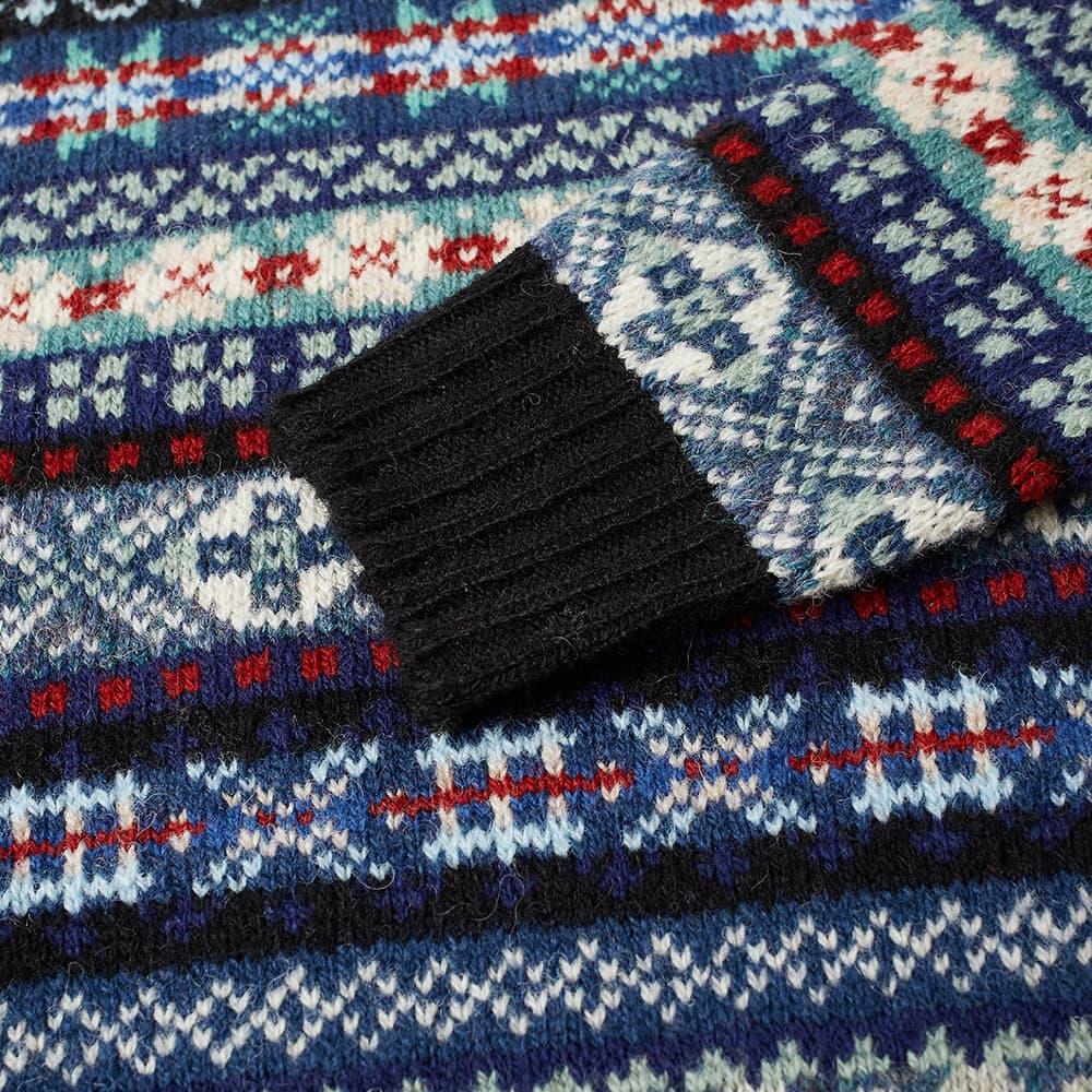 Jamieson's of Shetland Fair Isle Crew - Black