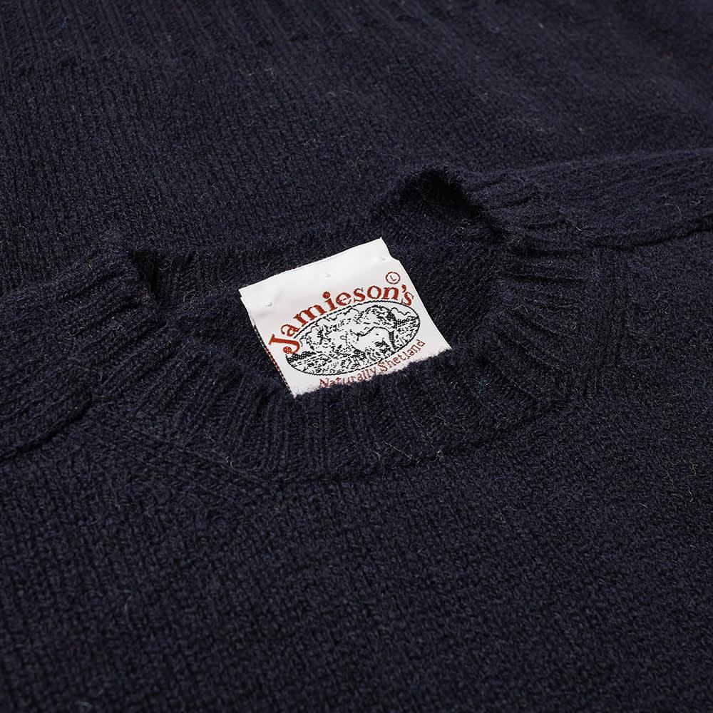 Jamieson's of Shetland Crew Knit - Dark Navy