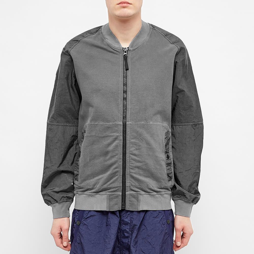 Stone Island Shadow Project Pique Fleece Bomber Jacket - Grey