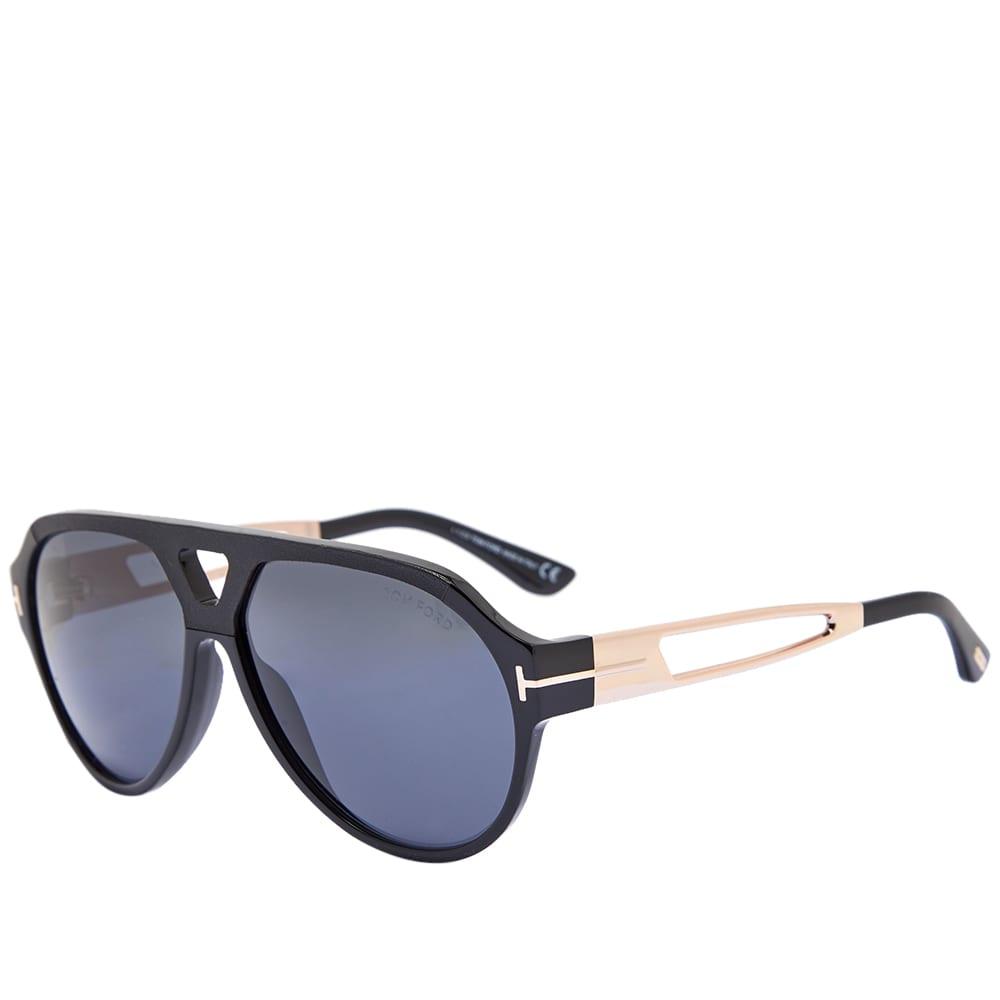 Tom Ford FT0778 Paul Sunglasses - Shiny Black & Smoke