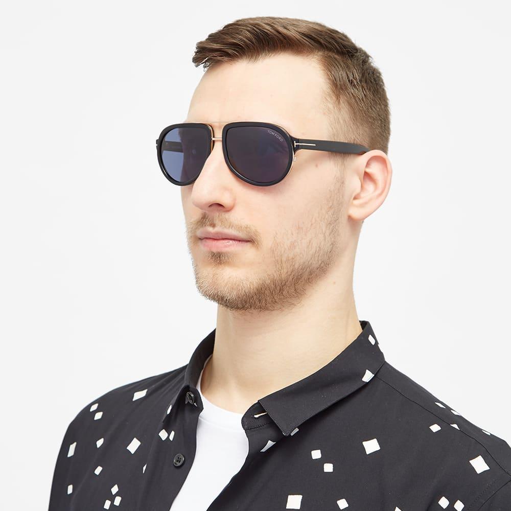 Tom Ford FT0779 Geoffrey Sunglasses - Shiny Black & Blue