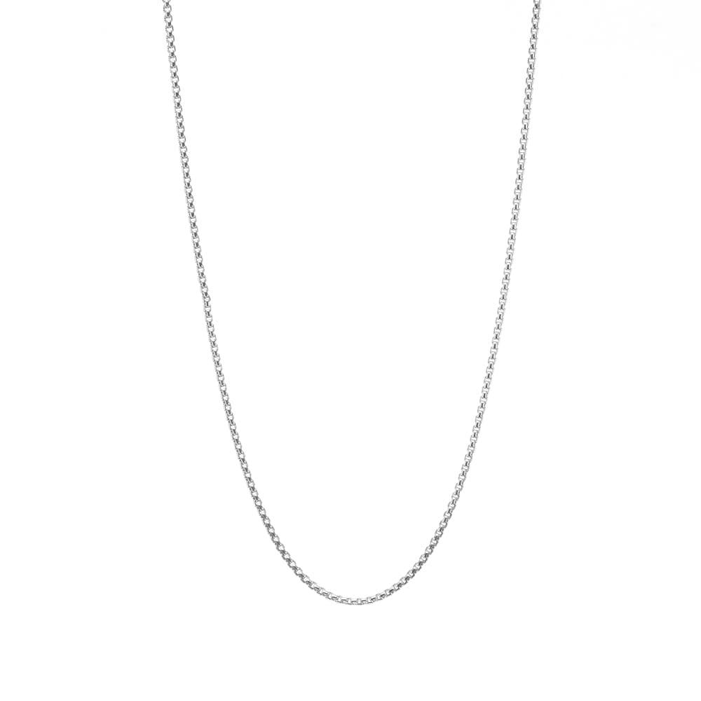 "Tom Wood 18"" Venetian Single Chain S - Silver"