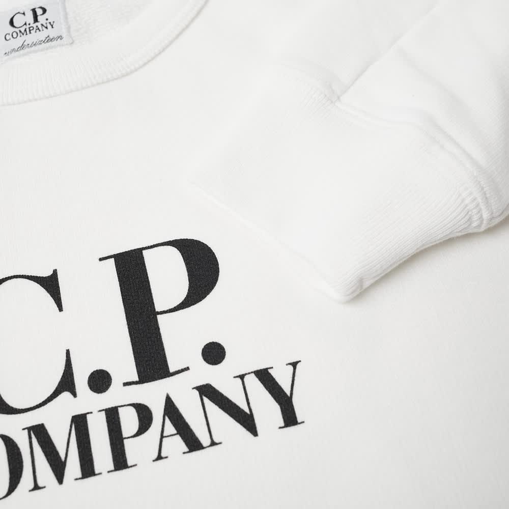 C.P. Company Undersixteen Logo Crew Sweat - Gauze White