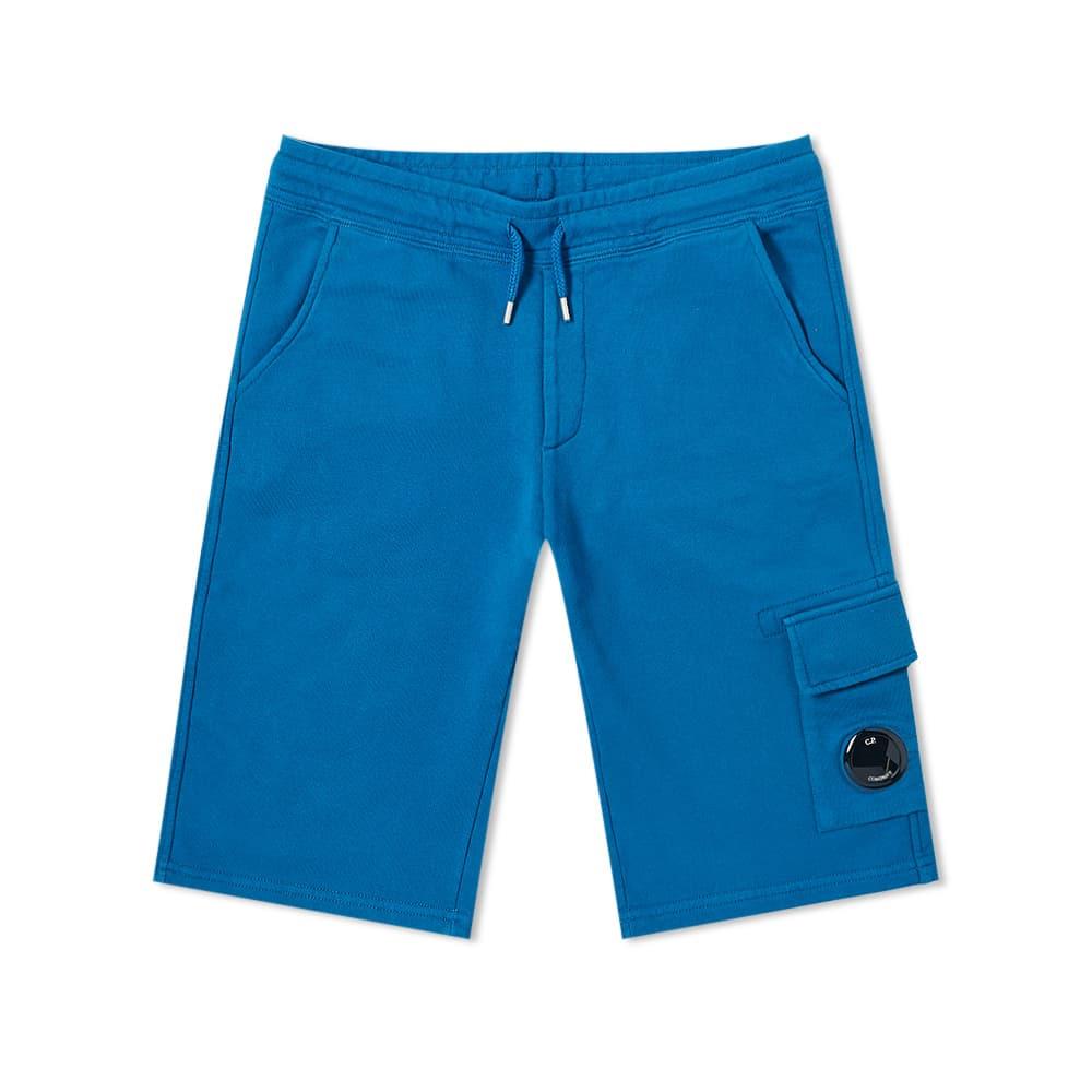 C.P. Company Undersixteen Lens Sweat Short - Lyons Blue