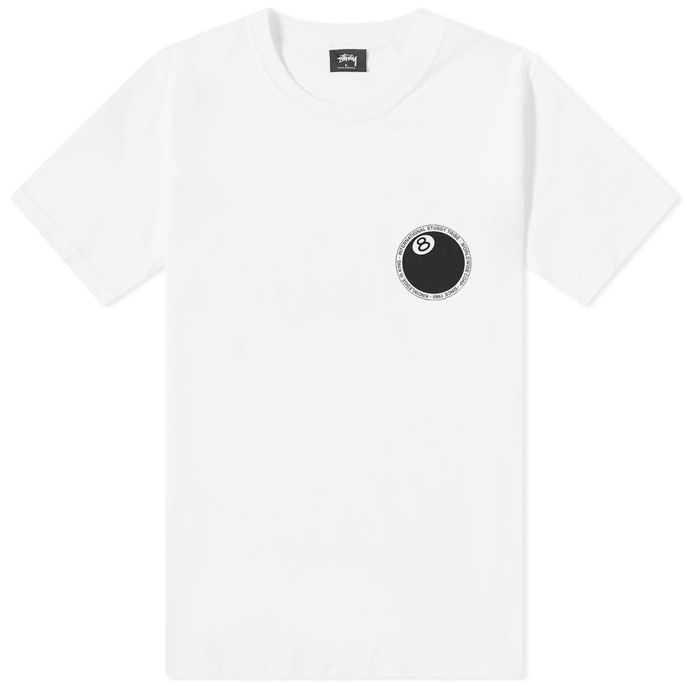 Stussy 8 Ball Dot Tee - White