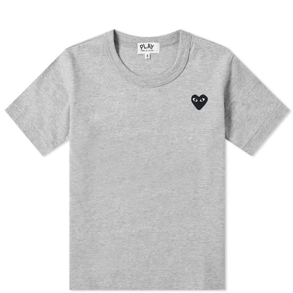 Comme des Garcons Play Kids Black Heart Tee - Grey
