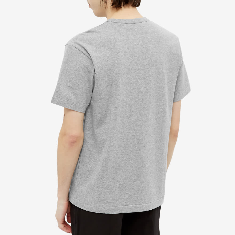 Comme des Garcons Play Double Heart Tee - Grey