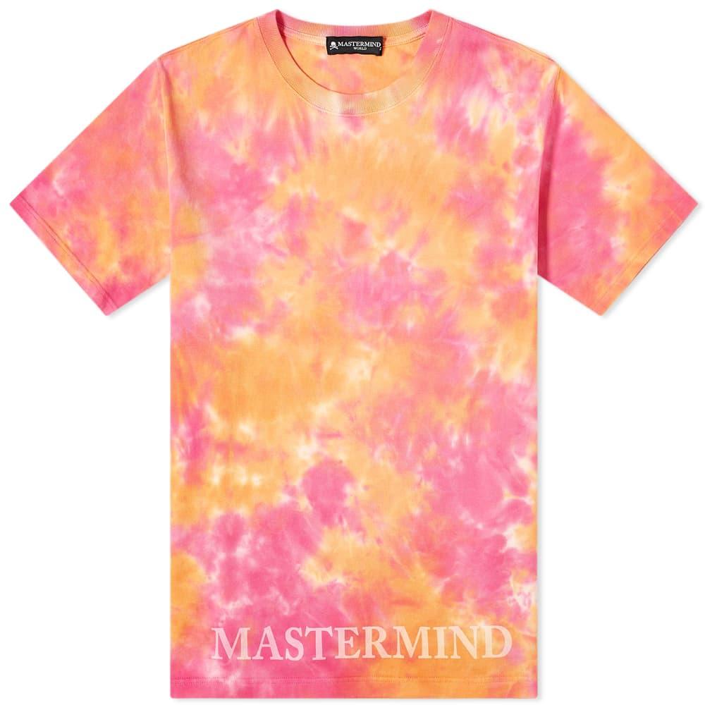 MASTERMIND WORLD Tie Dye Tee - Orange Base