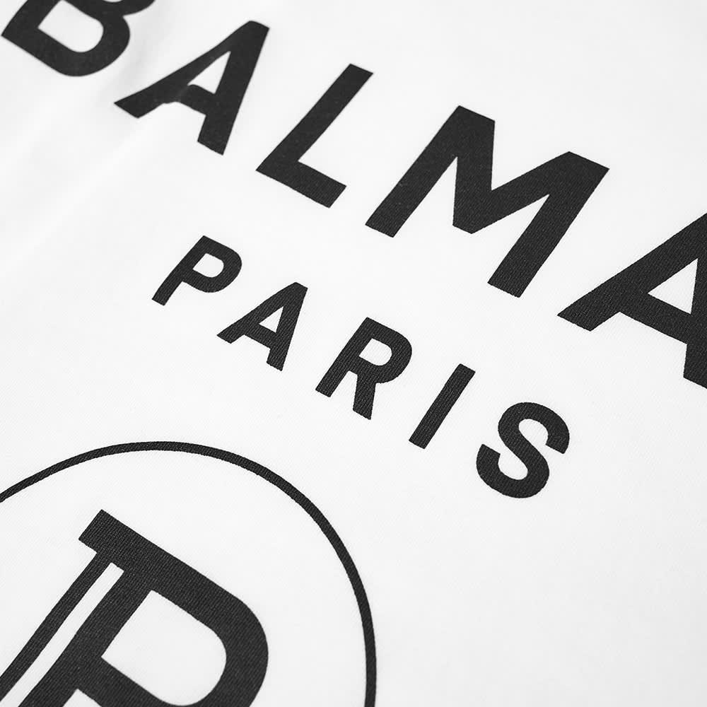 Balmain Printed T-Shirt - White & Black