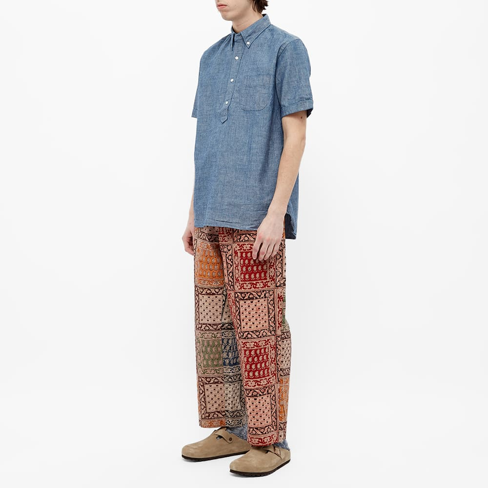 Beams Plus Popover Chambray Shirt - Blue