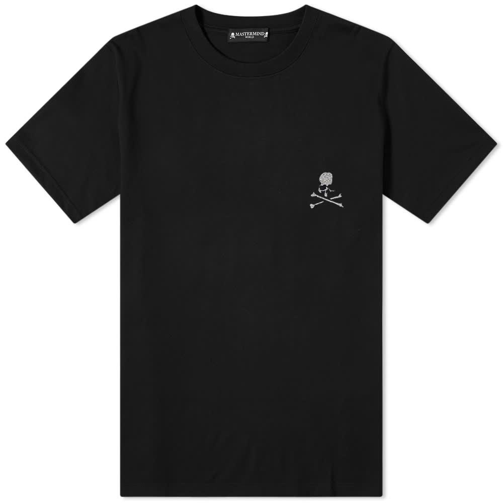 MASTERMIND WORLD Logo Chest Tee - Black