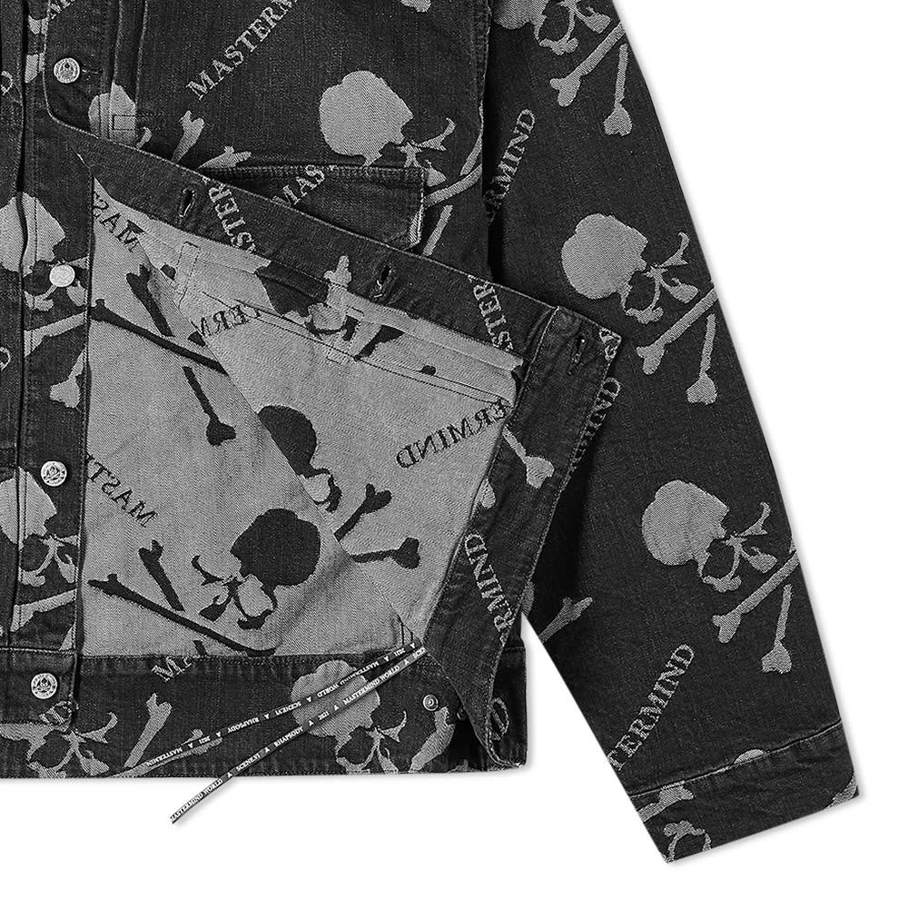 MASTERMIND WORLD Monogram Denim Trucker Jacket - Black