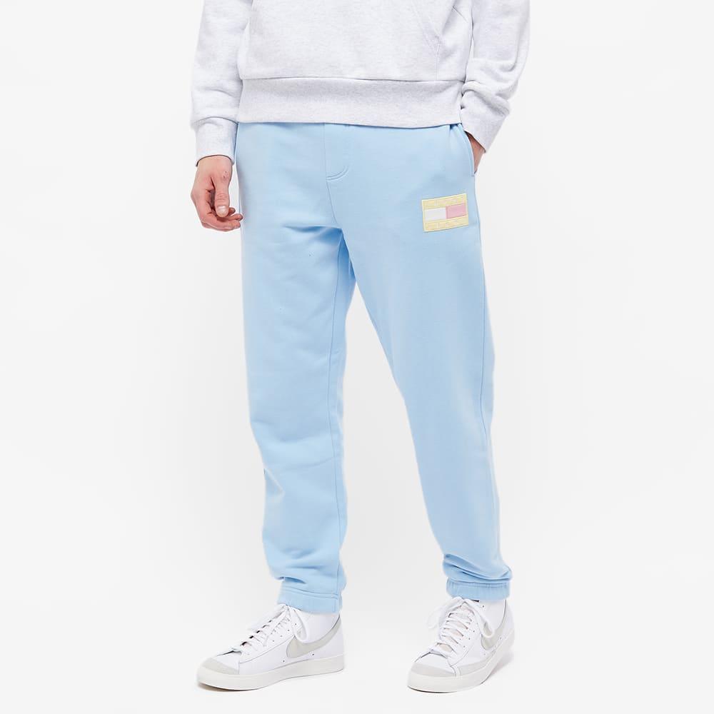 Tommy Jeans TJM Pastel Flag Sweat Pant - Light Powdery Blue